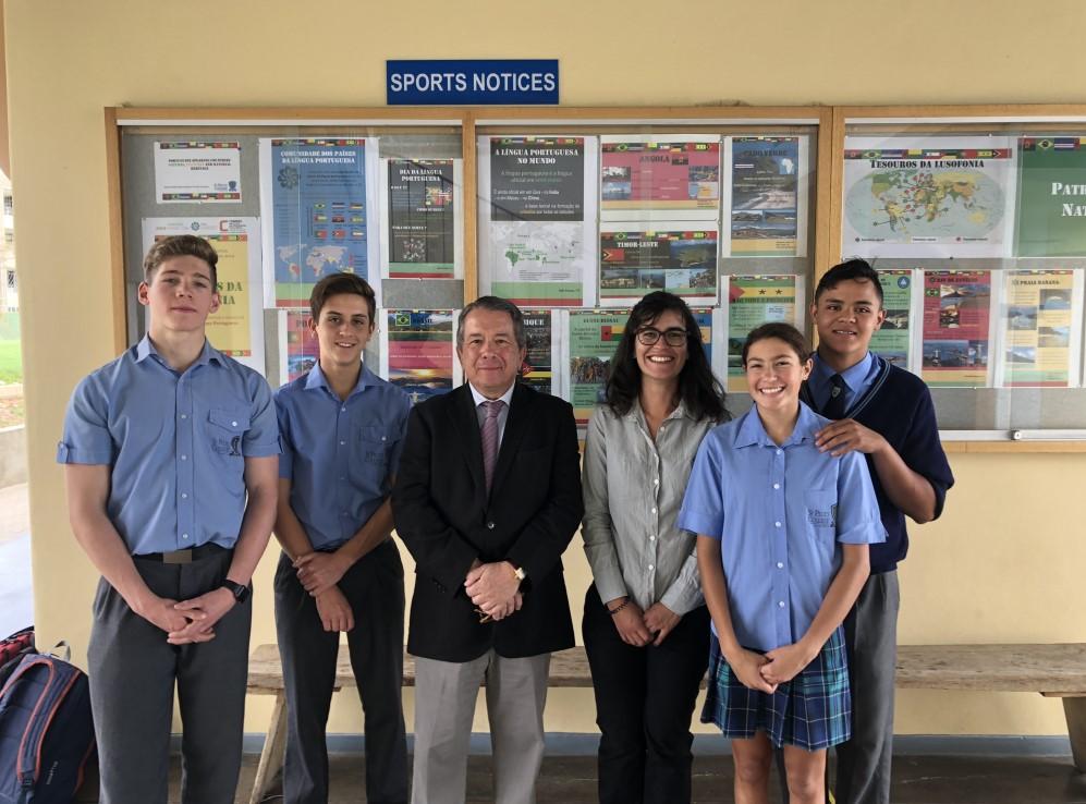 visita  u00e0 escola st  paul u0026 39 s em windhoek - not u00edcias - a embaixada